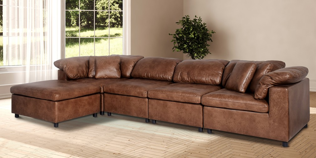 L shaped sofas online: Buy modular sectional sofas in leather and ...