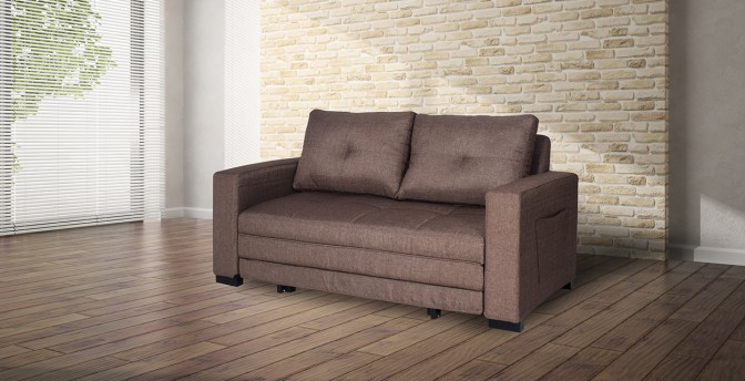 Felipe Fabric Sofa Cum Bed Main Image