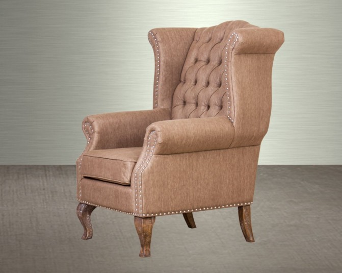 Antia Fabric Wing Chair Main Image