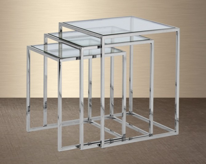 Gema Stainless Steel Nested Tables Main Image