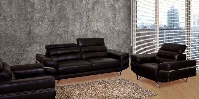 Ivan Leather Sofa Set Main Image