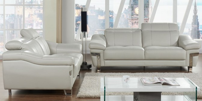 Raul Leather Sofa Set Main Image