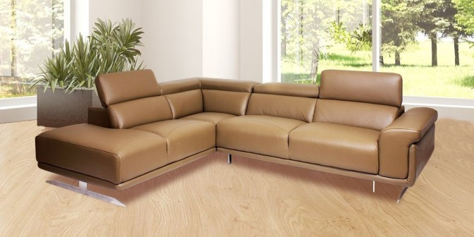 Ligado Leather Sectional Sofa Main Image