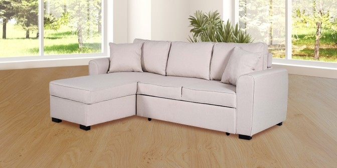 Savannah Fabric Sectional Sofa Cum Bed Main Image