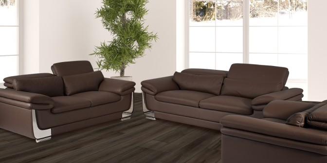 Utah Leather Sofa Set Main Image