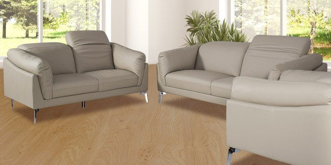Myra Leather Sofa Set Main Image
