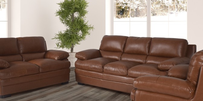 Rufio Leather Sofa Set Main Image