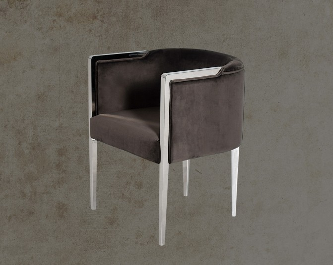 Brisa Fabric Stainless Steel Leisure Chair Main Image