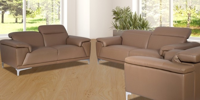 Yoana Leather Sofa Set Main Image