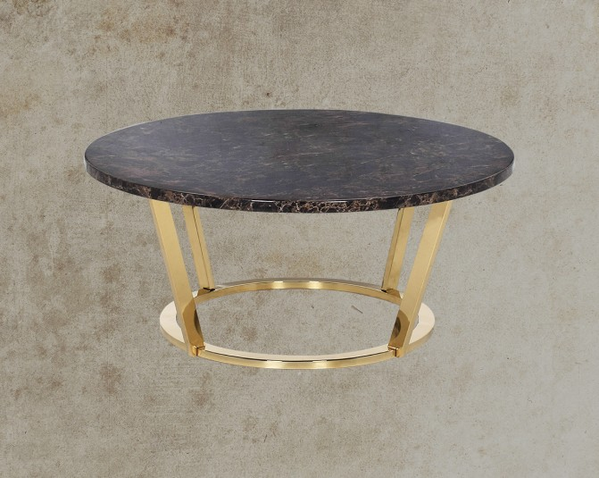 Othello Coffee Table In Round Marble Top Main Image