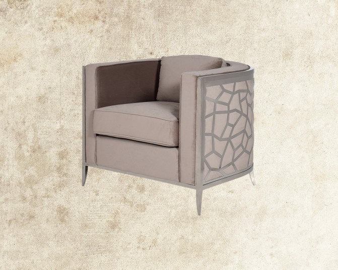 Anarosa Fabric Stainless Steel Leisure Chair Main Image