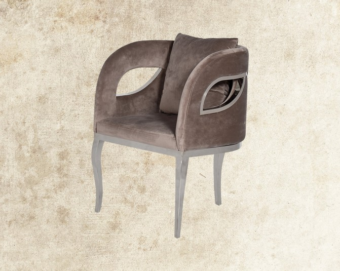 Cariann Fabric Stainless Steel Leisure Chair Main Image