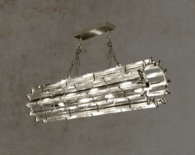 Nevada Silver Pendant Light Main Image