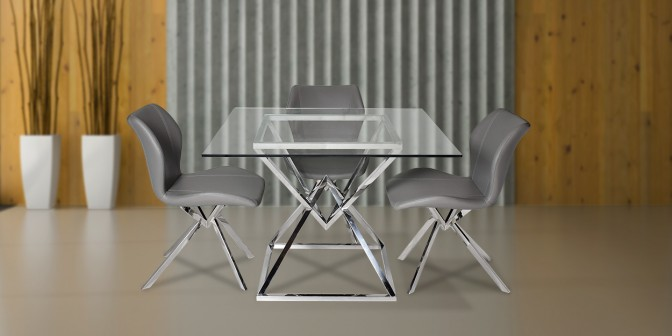 Glor 4 Seater Dining Table With Casey Dining Chair Main Image