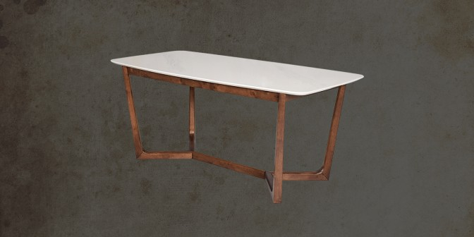 Viviano 6 Seater Marble Dining Table Main Image