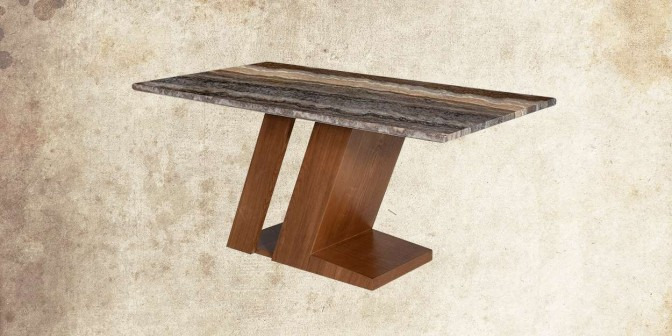 Maisa 6 Seater Marble Dining Table Main Image