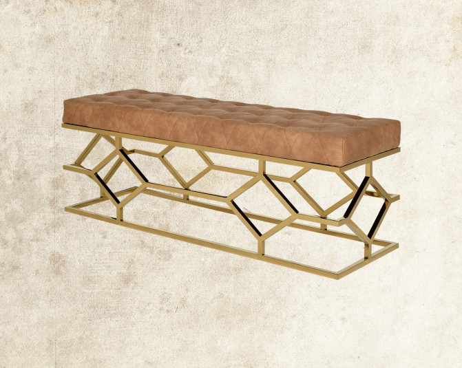 Judeen Gold Double Bench Main Image