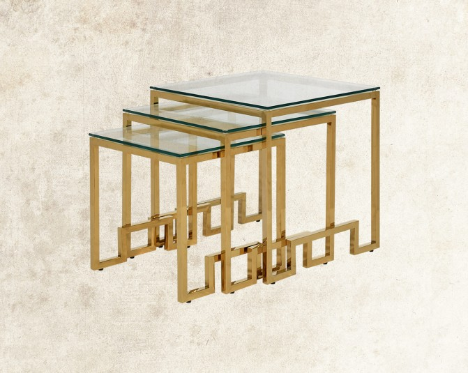 Selesio Gold Nested Tables Main Image