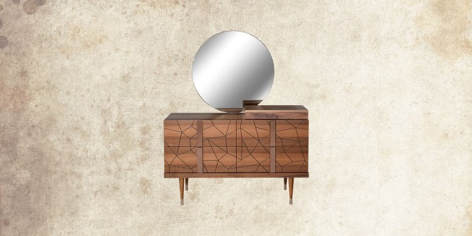 ANICA DRESSER WITH MIRROR