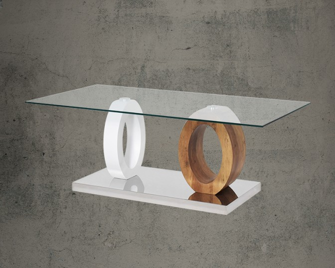 Cenobia Coffee Table With Clear Glass Main Image