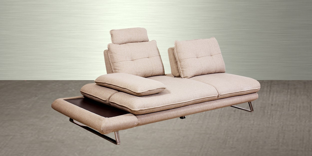 Litera Fabric Sectional Sofa 2 Seater Front View