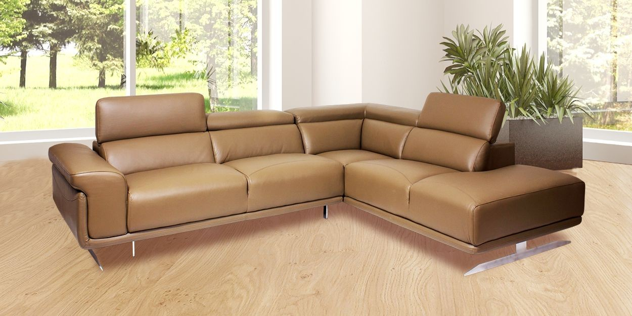 Ligado Leather Sectional Sofa Front View