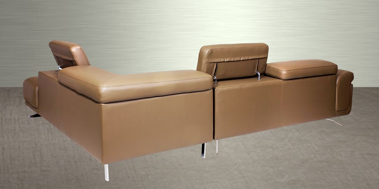 Ligado Leather Sectional Sofa Back View