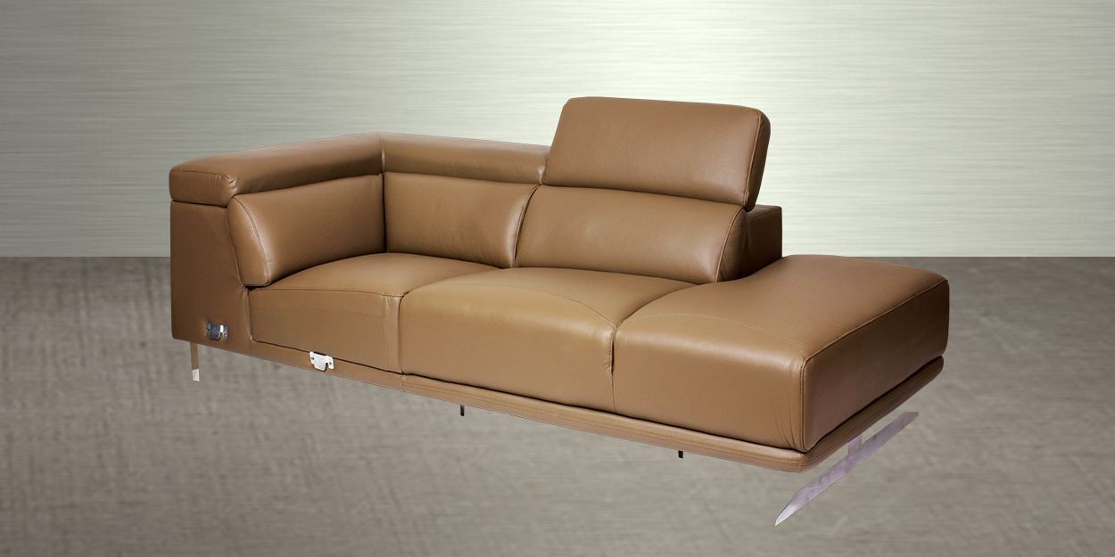 Ligado Leather Sectional Sofa Chaise Sofa Side View