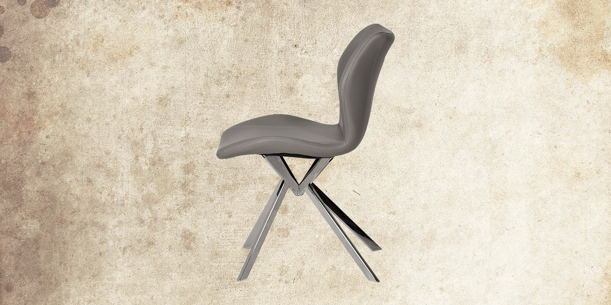 Edenia 8 Seater Marble Dining Table With Casey Dining Chair Side View of Dining Chair