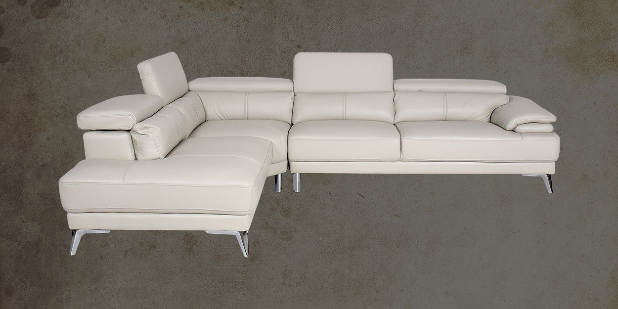 Savonna Leather Sectional Sofa Left View