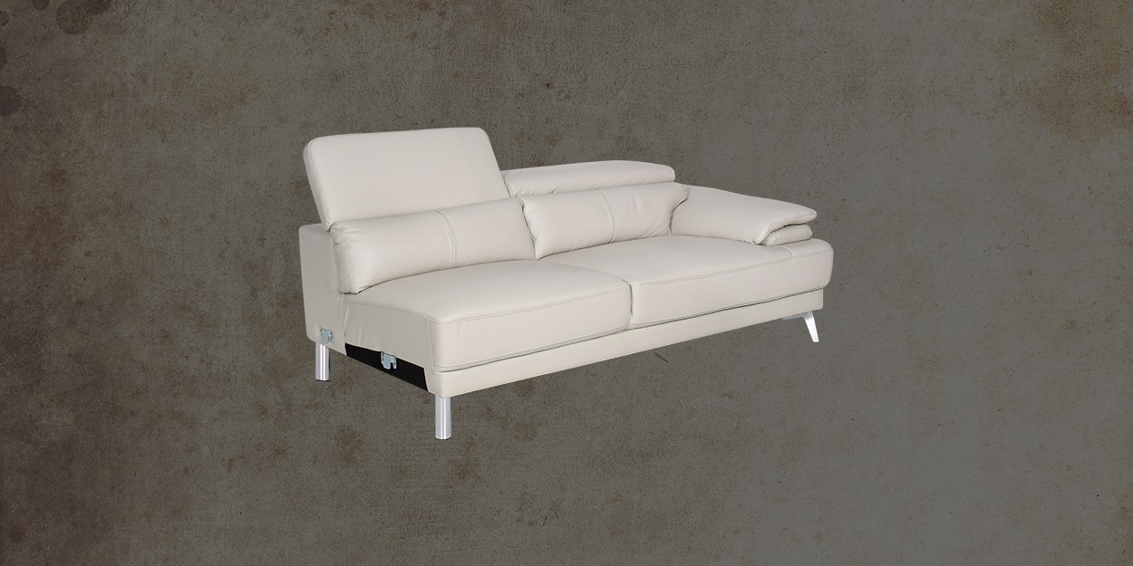 Savonna Leather Sectional Sofa 3 Seater Sofa Side View
