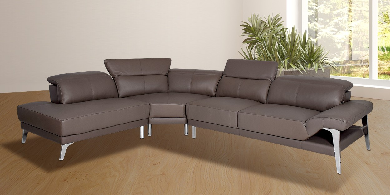Roslyn Leather Sectional Sofa Main Image