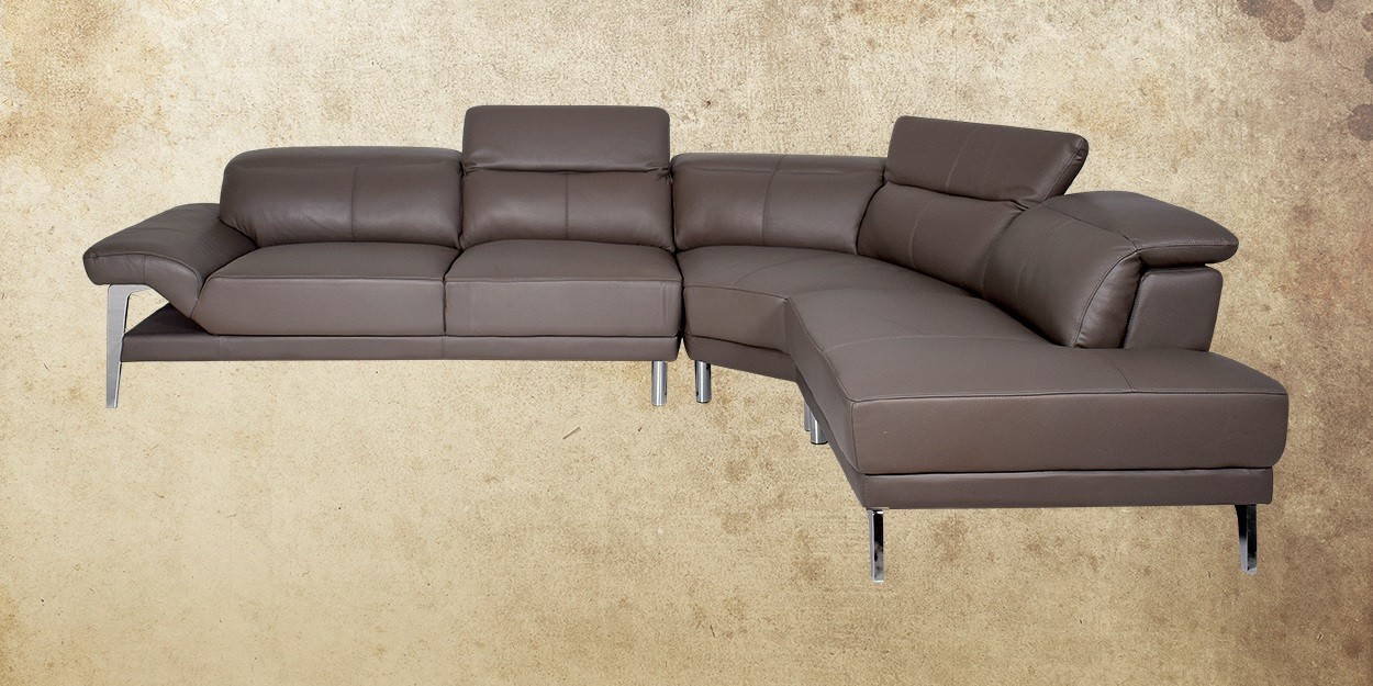 Roslyn Leather Sectional Sofa Right View