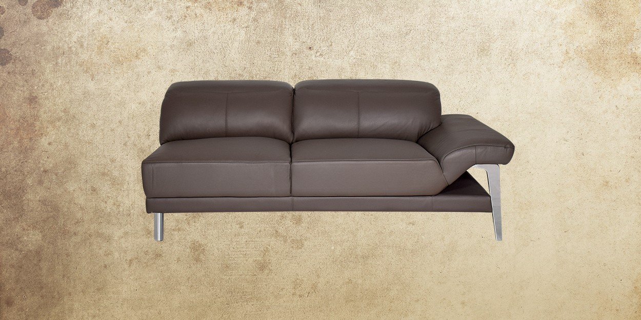 Roslyn Leather Sectional Sofa Two Seater Sofa View