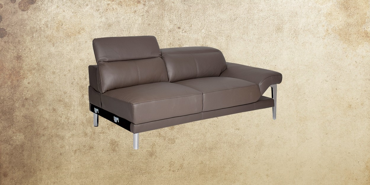 Roslyn Leather Sectional Sofa Two Seater Sofa Left View