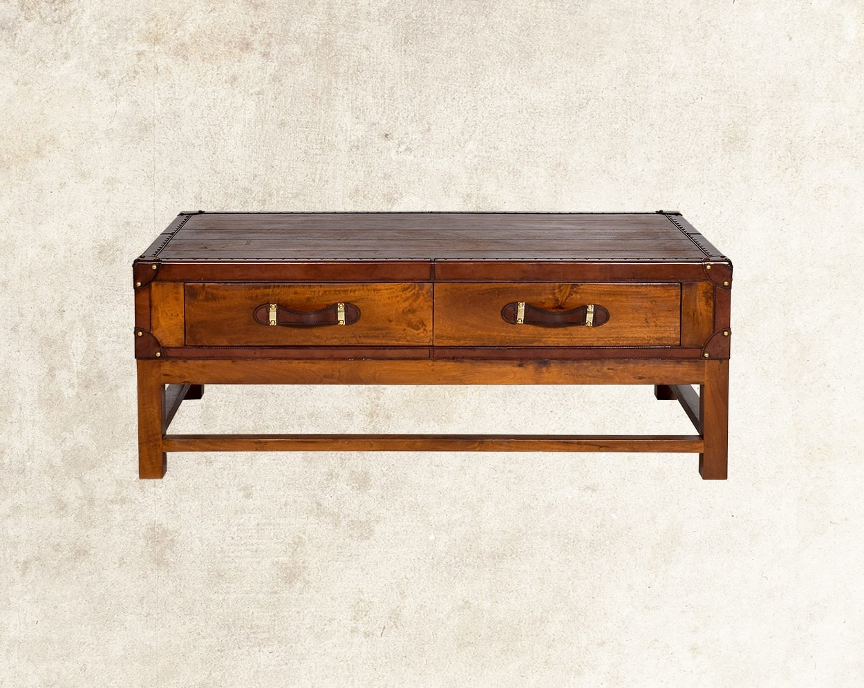 Cariann Coffee Table In Wood With Vintage Look  Side View