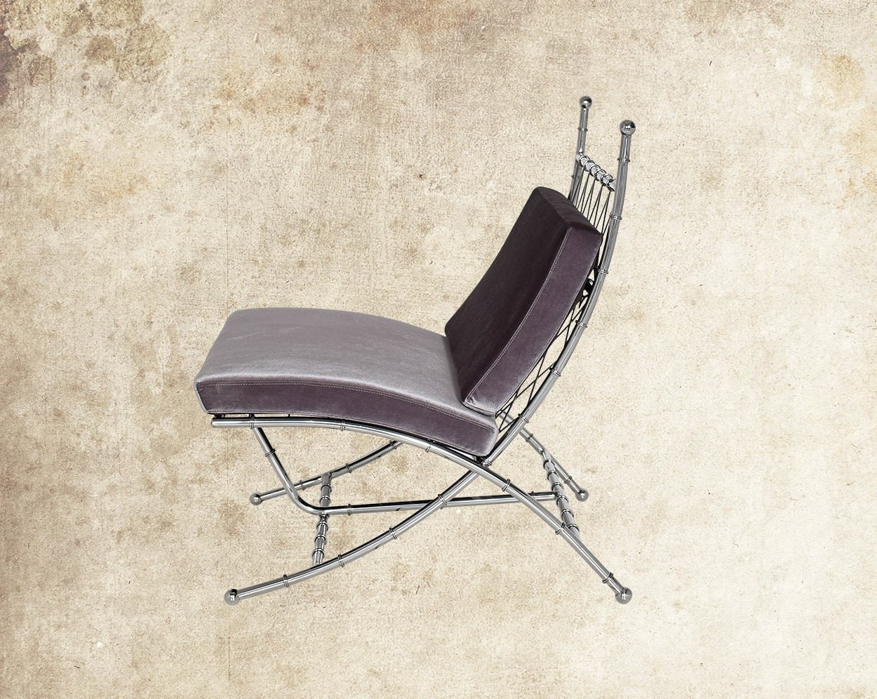 Alexia Stainless Steel Leisure Chair Side View