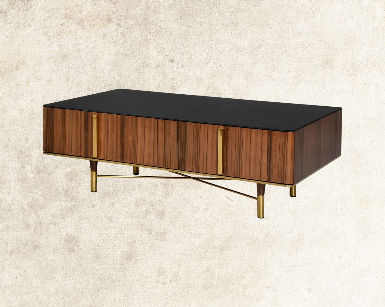 Austin Coffee Table With Black Frosted Glass Top Main Image