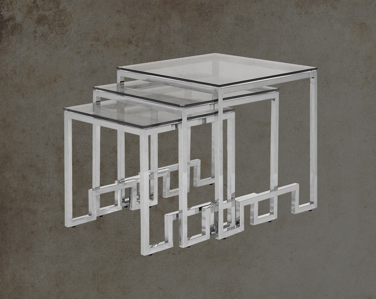Selesio Silver Nested Tables Main Image