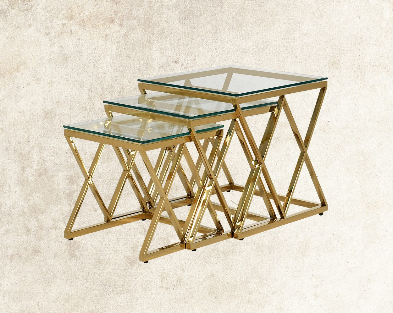Maceo Gold Nested Tables Main Image
