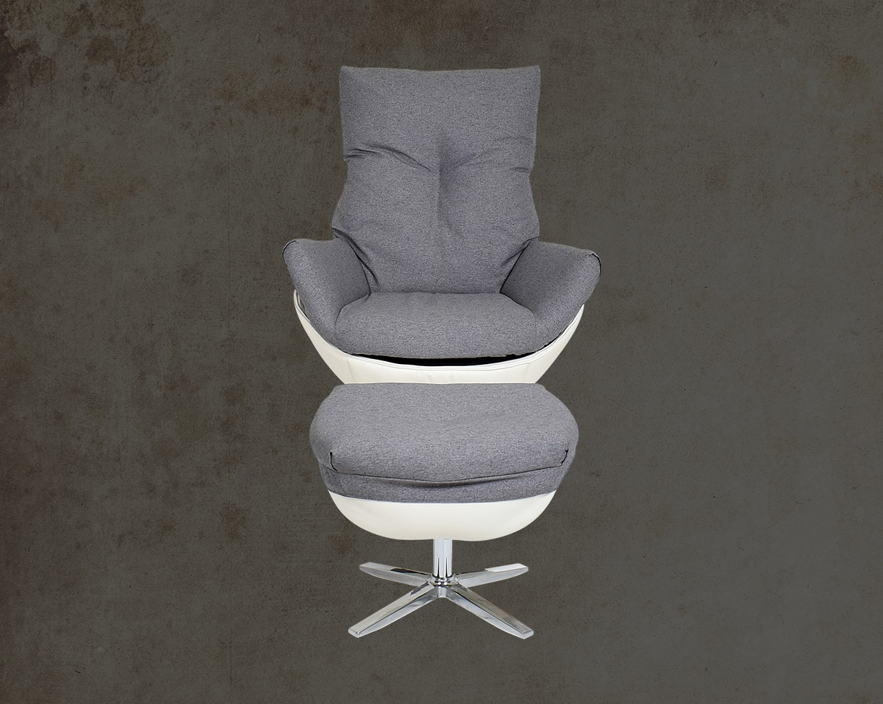 Verlin Leisure Chair With Ottoman Front View