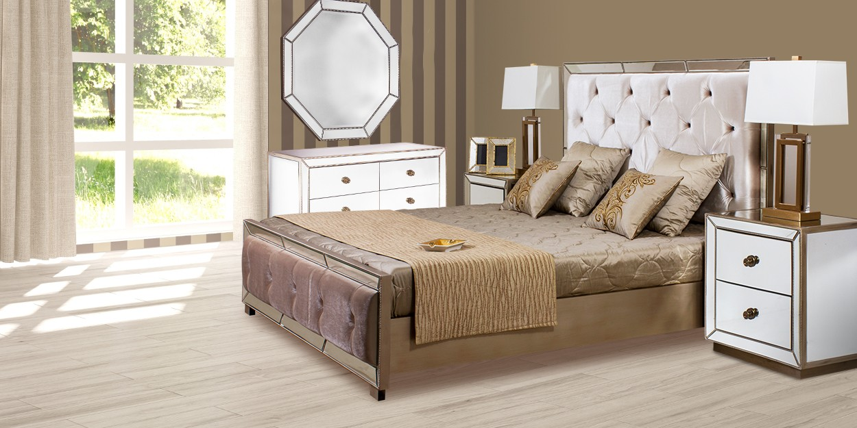 Costanza Mirror with Bed Sets