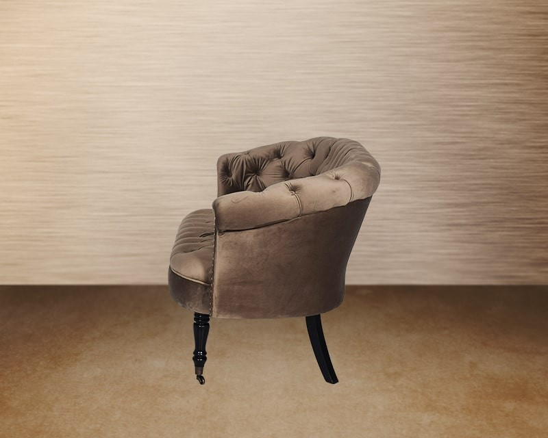 Ezmeralda Two Seater Fabric Wing Chair Side View