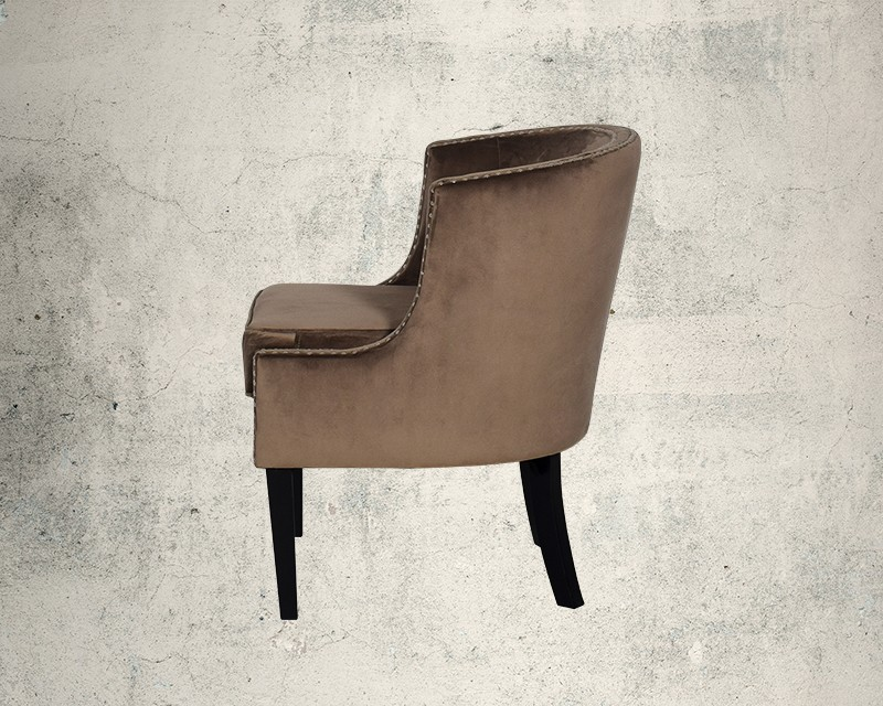 Quinta Fabric Wing Chair Side View