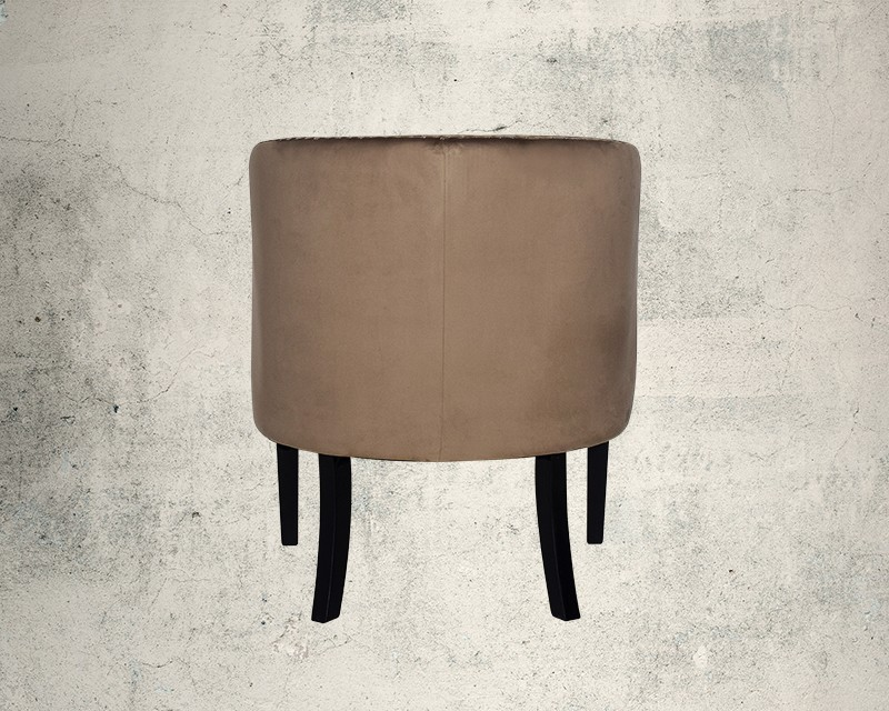 Quinta Fabric Wing Chair Back View