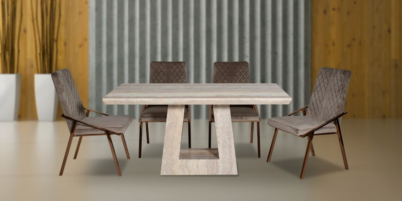 6 Seater Dining Table Set Buy Designer Dining Table Dining Chair At 30 Off Furniturewalla